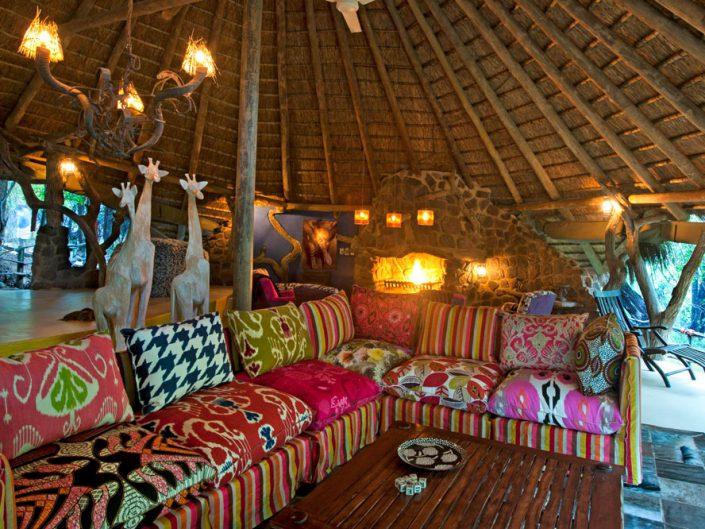 Madikwe Lodge lounge area